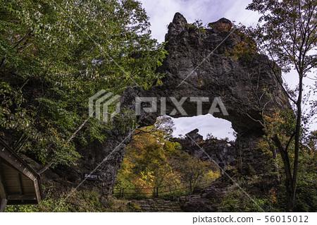 (군마현) 가을 妙義山 넷째 석문 부근의 경치 56015012