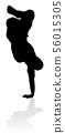 Street Dance Dancer Silhouette 56015305