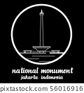 Circle Icon National Monument indonecia. eps10 56016916