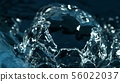 Abstract water splash detail 56022037