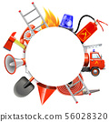 Vector Fire Prevention Round Frame 56028320