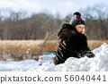 snow, winter, child 56040441
