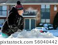snow, steam, girl 56040442