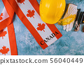 Canada happy labor day greeting card and yellow 56040449