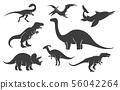 Dinoussaur silhouette set 56042264