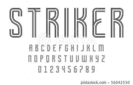 Set of alphabets font modern design with lines 56042530