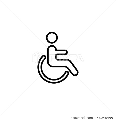 Web line icon. Disabled black on white background 56048499