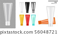 Tube Mock up Realistic Transparent, Black and 56048721