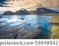 Aerial view South-Eastern Iceland. Overwhelming 56048842