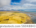 Aerial view South-Eastern Iceland. Overwhelming 56048843