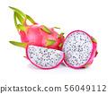 Dragon fruit isolated on white background 56049112