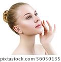 Beautiful sensual woman with perfect make-up. 56050135