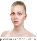 Beautiful sensual woman with perfect make-up. 56050137