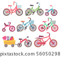 Kids bicycles vector set. Childrens bikes collection 56050298