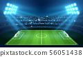 Soccer stadium with empty football field and spotlights vector illustration 56051438