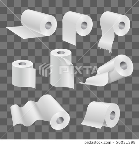 White Toilet Paper Roll And Kitchen Towels Stock Illustration