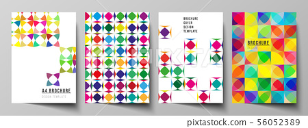 Vector layout of A4 format modern cover mockups design templates for brochure, magazine, flyer 56052389