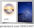 Vector layout of A4 format modern cover mockups design templates for brochure, magazine, flyer 56052407
