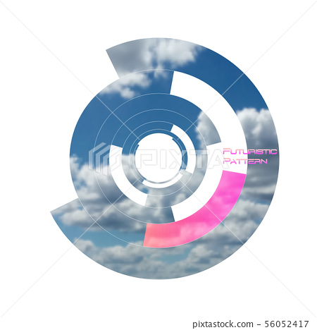 Circular pattern, circle elements forming geometric frame for photo with colorful pink color 56052417