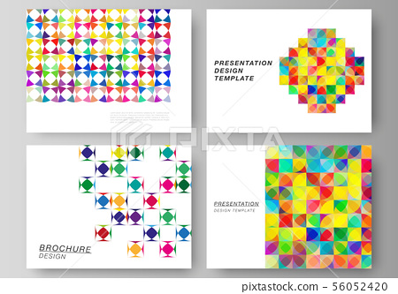 The minimalistic abstract vector illustration layout of the presentation slides design business 56052420