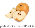 Fresh asian pear isolated on white background 56052437