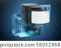 Visualization 3d cad model of motion detector 56052968