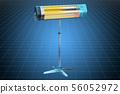 3d cad model of halogen or infrared heater 56052972