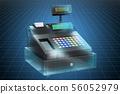 Visualization 3d cad model of cash register 56052979