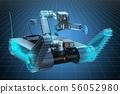 Visualization 3d cad model of bomb disposal robot 56052980