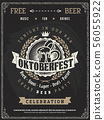Retro vector poster of beer party Oktoberfest.  56055922