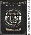 Retro vector poster of beer party Oktoberfest.  56055923