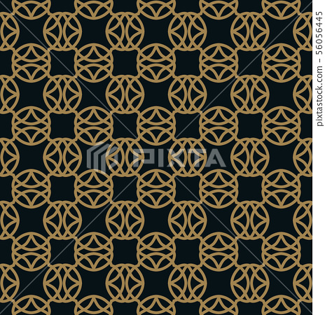 Seamless pattern. Graphic lines ornament. Floral 56056445