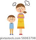 流行妈妈生气的男孩 56063798