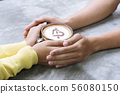coffee lover concept. Close up woman hands holding 56080150