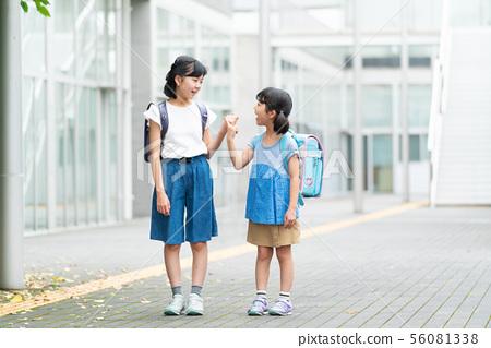 초등학생 소녀 학교 학교 생활 이미지 56081338