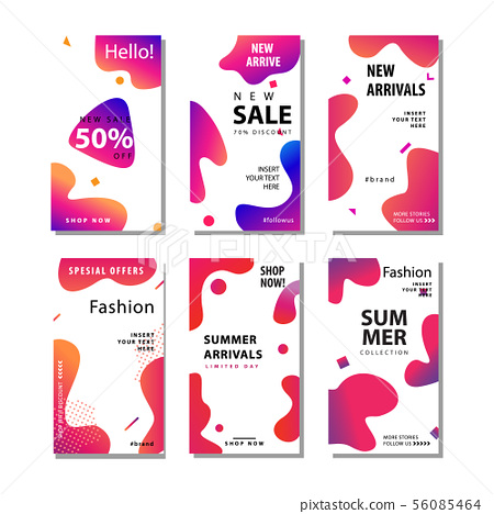 set sale banner background with fluid gradient 56085464