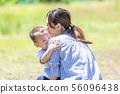 父母和子女公園河床 56096438