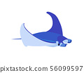 vector flat cartoon animal clip art 56099597