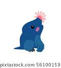 vector flat cartoon animal clip art 56100159
