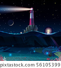vector cartoon Lighthouse sea clipart 56105399