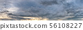 Dramatic panorama sky with storm cloud. 56108227