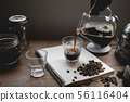 Drip Coffee Black coffee brewed in low light in th 56116404