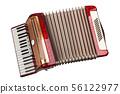 Retro accordion isolated 56122977