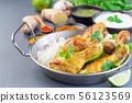Indian chicken tandoori, marinated in greek yogurt 56123569