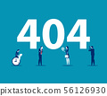 Error 404 page. Concept business vector 56126930