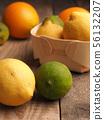 Fresh organic citrus fruits 56132207