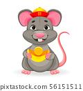 Funny rat, symbol of New Year 2020 56151511