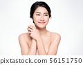 Beautiful Young Asian Woman with Clean Fresh Skin, 56151750