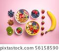 Healthy acai smoothie bowl 56158590