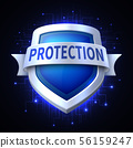 Protection shield vector icon for various safety concept 56159247